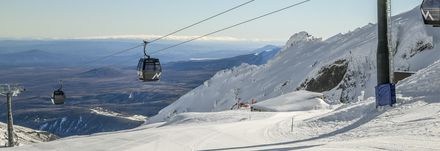 Gondolas up to the top at Whakapapa Ski Fields