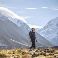 Go hiking in the Aoraki Mt Cook National Park