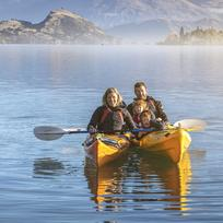 The whole family can enjoy kayaking together in Wanaka