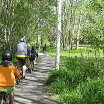 Cycling near the Waikanae River