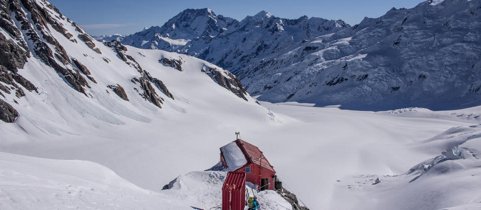 Tasman Saddle Hut provides accommodation in a spectacular setting for multiday trips