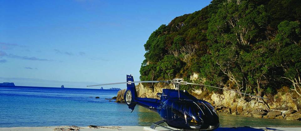 Luxury helicopter tour with a picnic on the beach