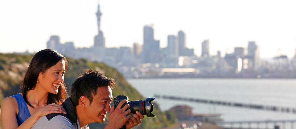 Stop at Bastion Point for breath-taking photo opportunities of Auckland City and Rangitoto Island