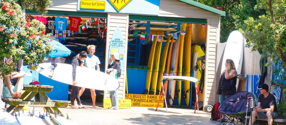 Our surf school is 1 minutes walk from the beach.