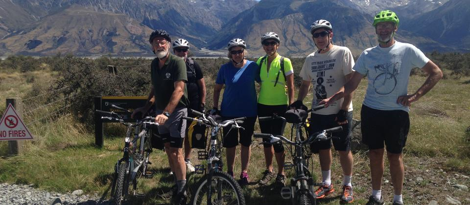 Vision impaired cyclists embarking on a tandem biking adventure in New Zealand's South Island