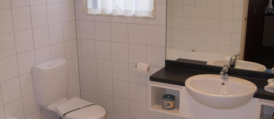 Executive one bedroom apartment ensuite bathroom
