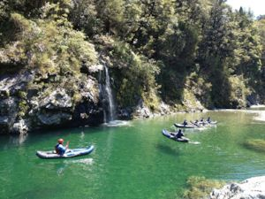 Kayaking on the beautiful Pelorus River