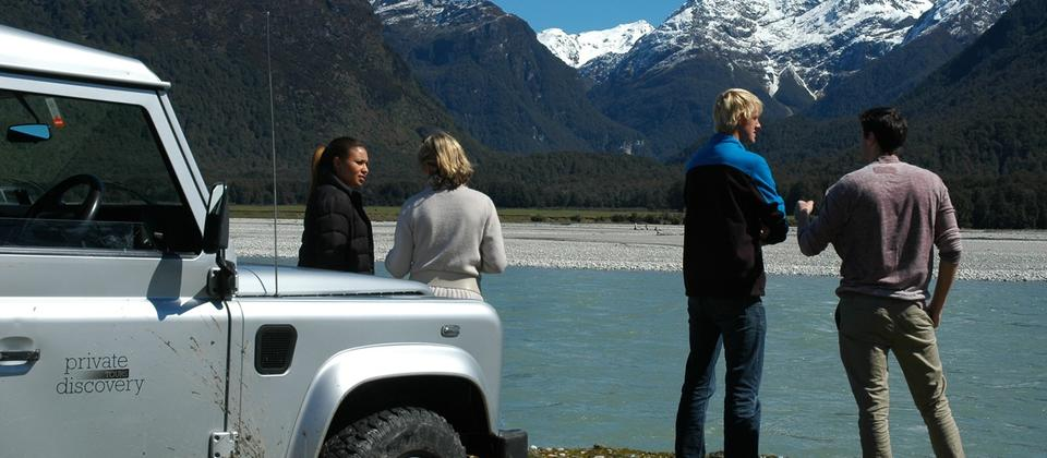 4WD up Dart River beach