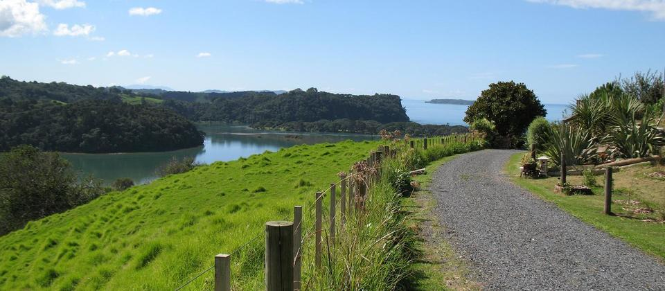 Stunning views or Waiwera on Matakana Tour