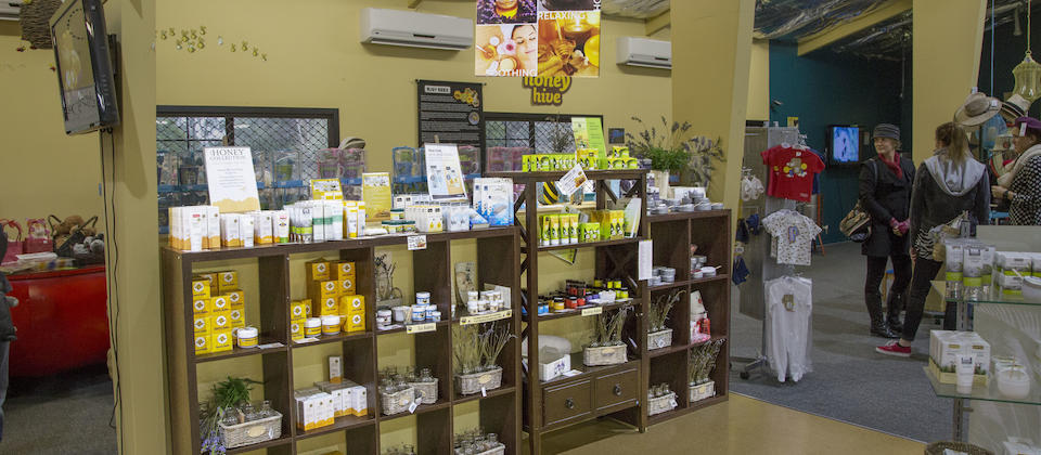 Lots of honey products to choose from