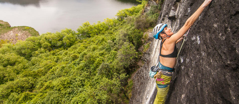 Climbing classic routes at one of Wanaka's summer crags