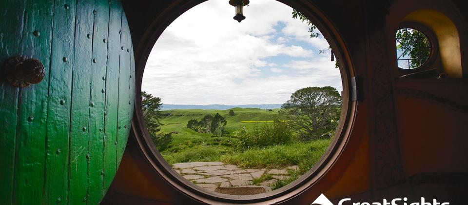 Bilbo and Frodo's house at Hobbiton