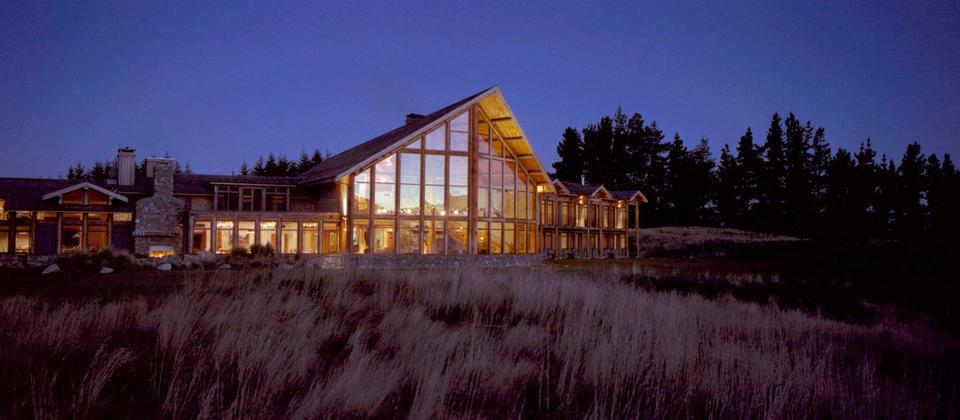 Fiordland Lodge at Night