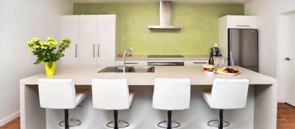 Contemporary kitchen & dining area