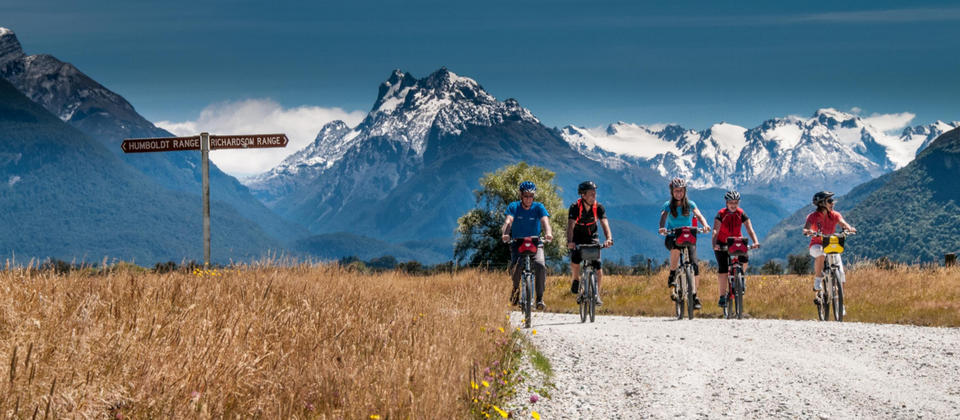 Exploring the Glenorchy area by bike