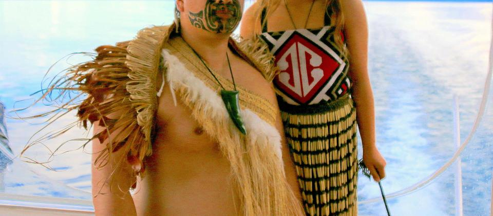 Participate in interactive Maori performances on the Taurikura Maori Cultural Scenic Cruise Experience
