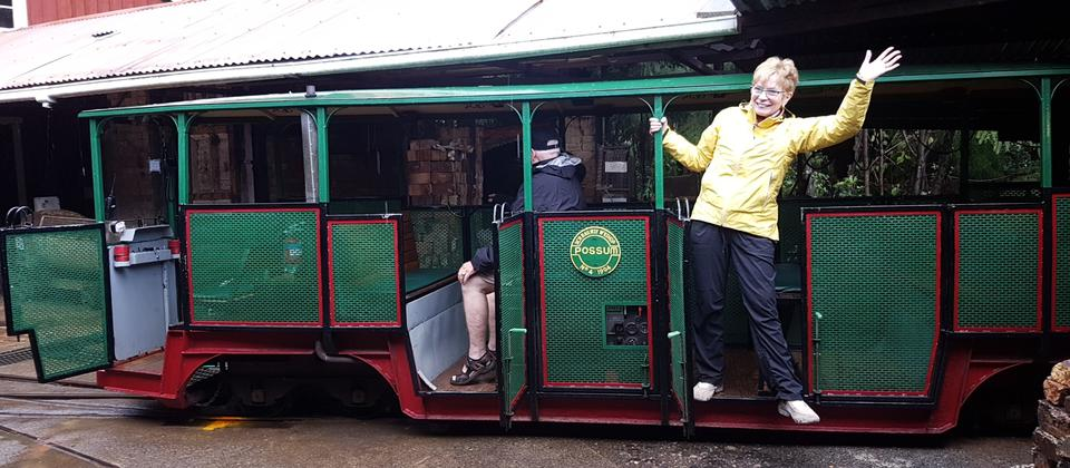 Off on the Driving Creek Railway Coromandel - 30 Day Tour