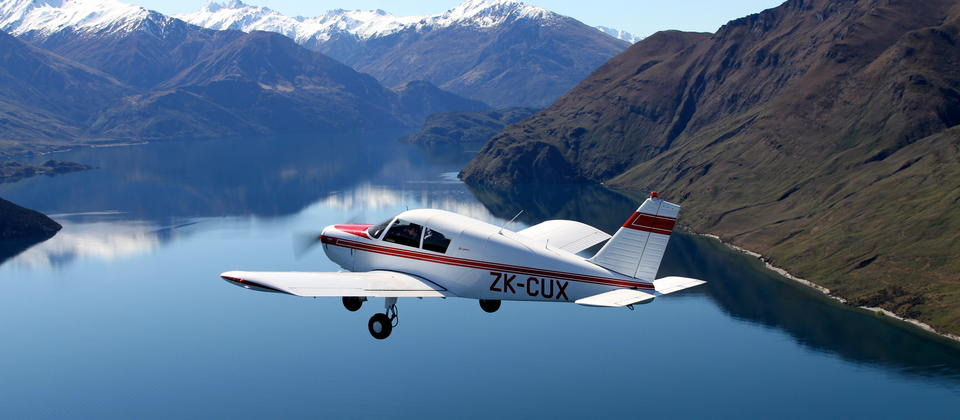 Flying over Lake Wanaka