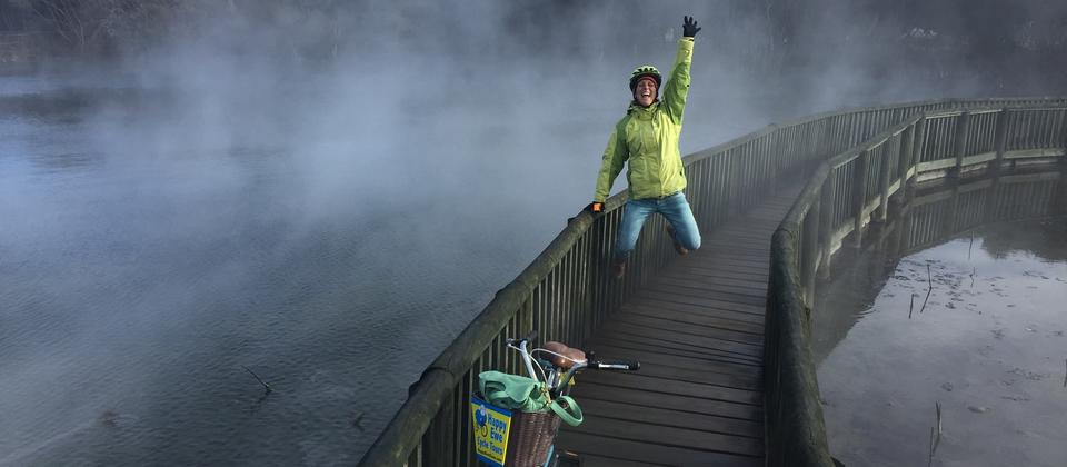 Get amongst the steamy parts in Rotorua with Happy Ewe Cycle Tours