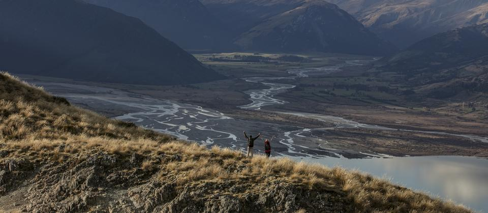 Magnificent scenery from our landing spots. Looking over the Rees and Dart Rivers near Glenorchy