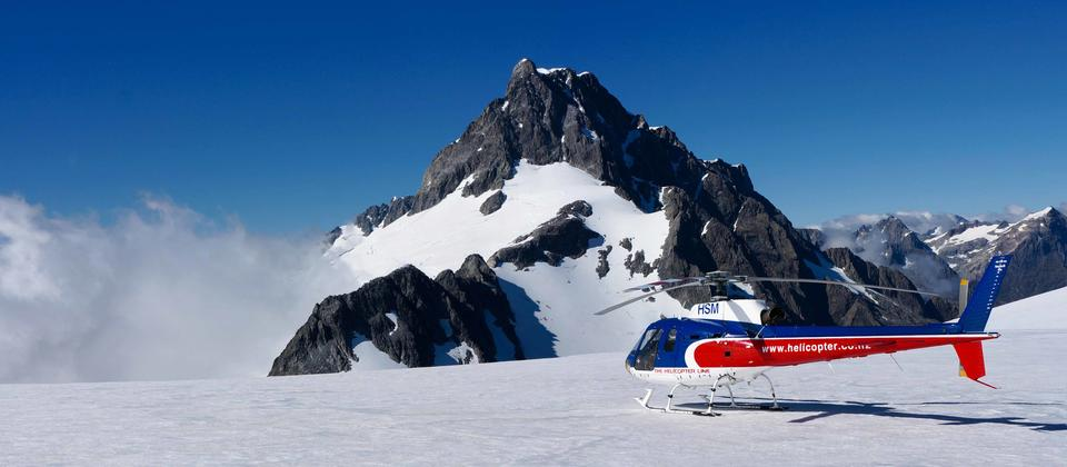 Experience landing on the Tutoko Glacier.