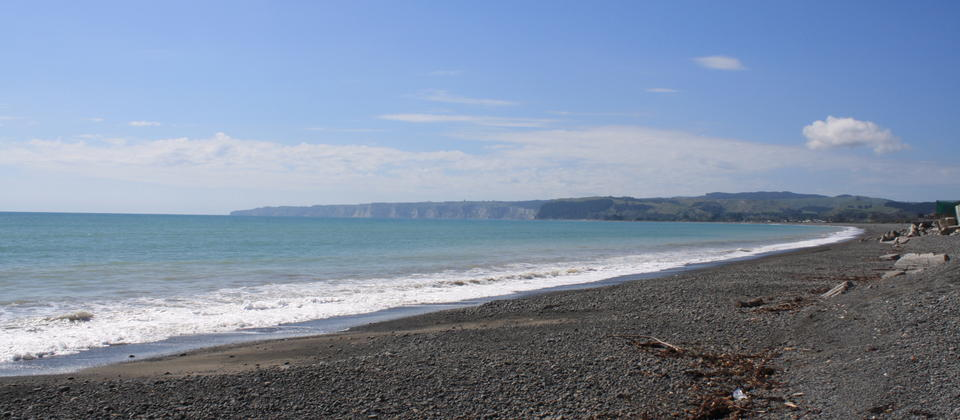 Coastal views across to Cape Kidnappers