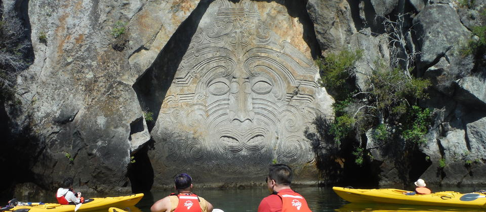 Taupo Kayaking Adventures Carvings.JPG
