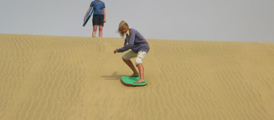 Sand boarding not to be missed