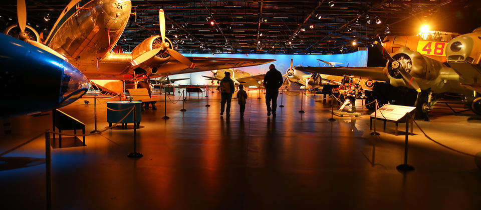 Air Force Museum's Aircraft Hall