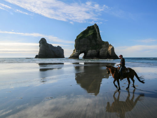 Wharariki Beach Walk Nelson New Zealand