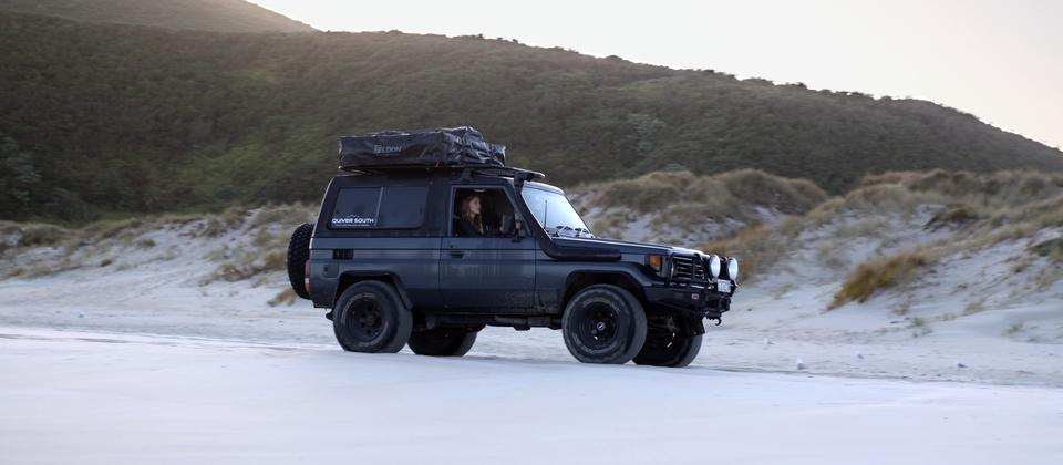 An ode to escapism - a crisp and fine Autumn weekend. Quiver South - Camper rentals NZ.