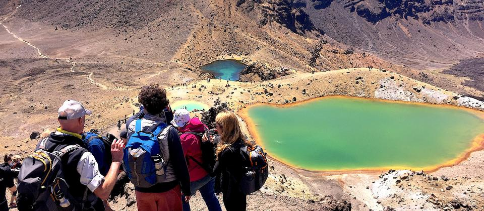 Walk the Tongariro Alpine Crossing with Chris Jolly Outdoors