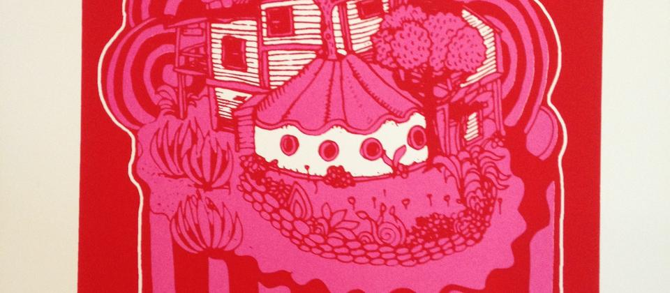 'Summer At The Quarry Arts Centre' - screen print