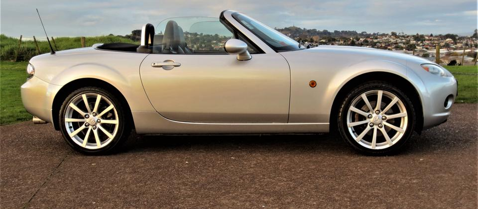 MX5 convertible, ideal for our sunny summer