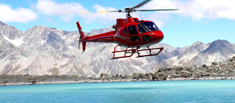 Precision helicopters Hokitika, thumbs up lake!