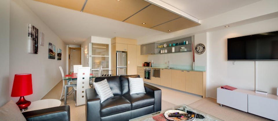 Open-plan living and dining