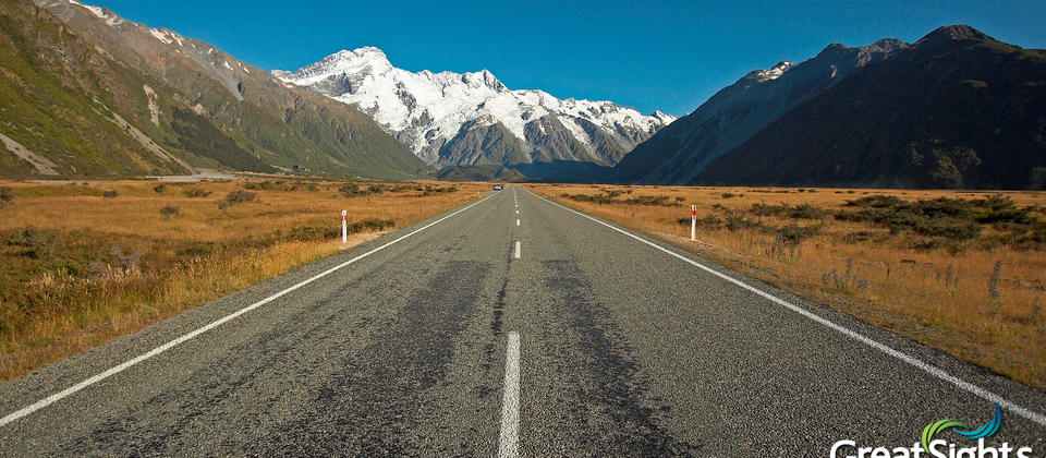 Heading to Aorkai/Mt Cook