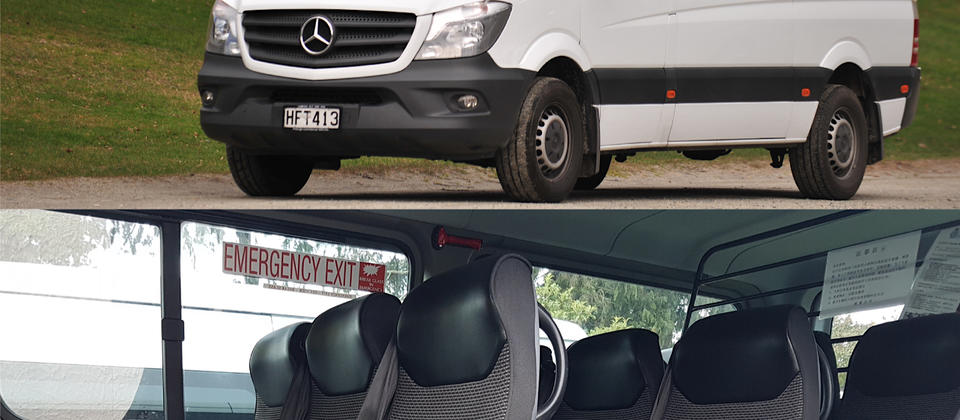 12-seater Mercedes Benz Sprinter