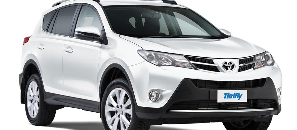 Thrifty Car Rental Toyota Rav4 IFAR (or similar). 5 star ANCAP safety rated.