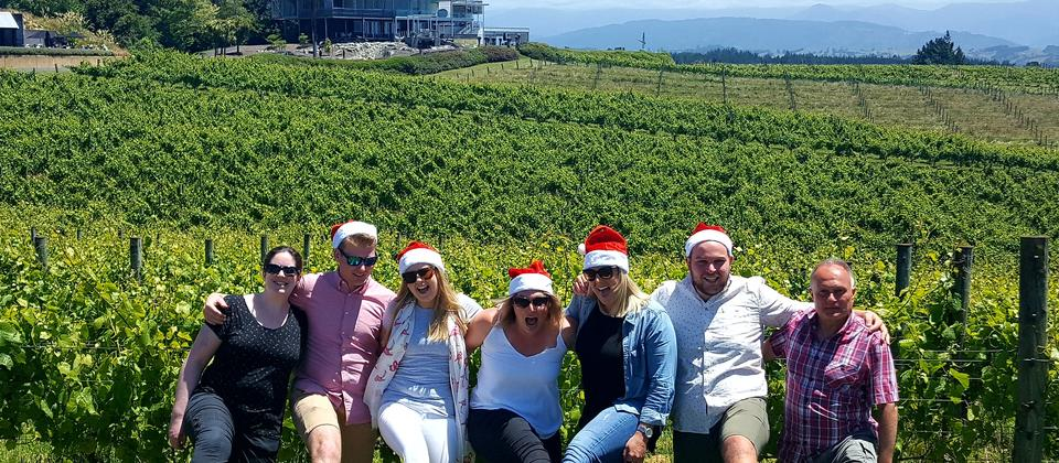 Merry Christmas on our Nelson wine tour.