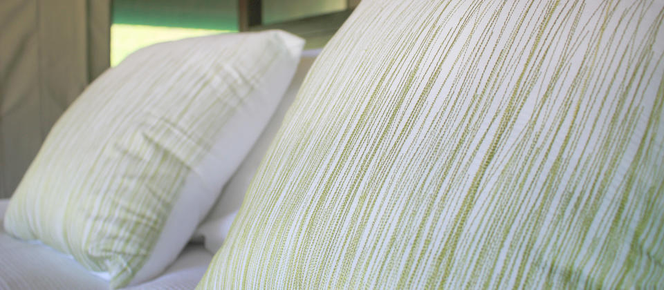 Luxurious bed linen at Tuki Tuki Valley