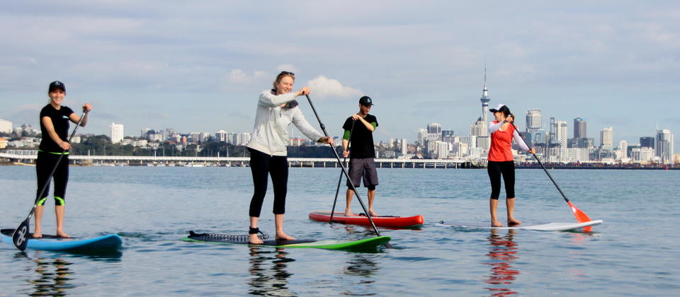 Stand Up Paddle with views of Auckland!