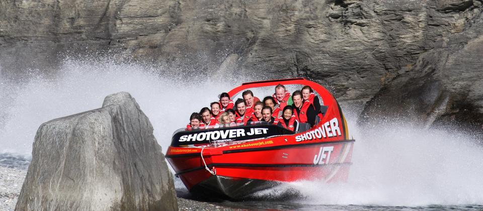 Race through the Shotover river canyons on the world's most excited jet boat ride.