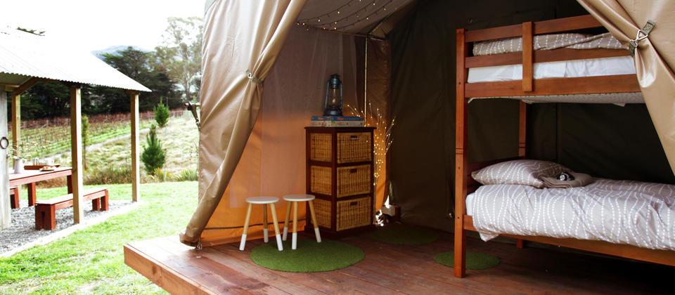 The kids tent at Tuki Tuki Valley