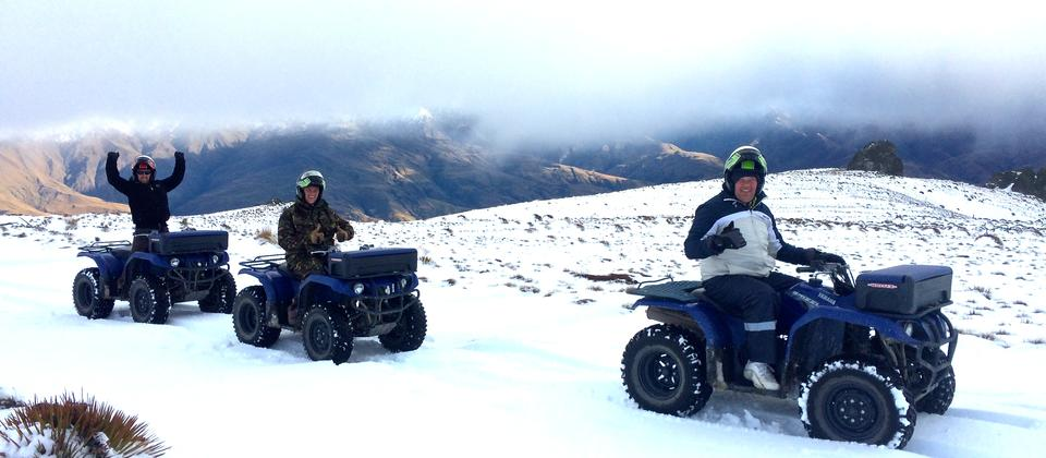 WINTER QUADBIKING! Need we say more...?