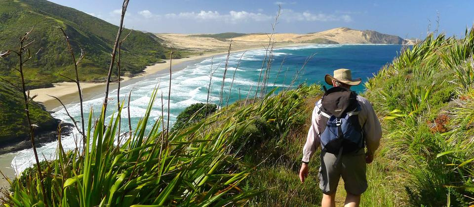 Hiking at Cape Reinga