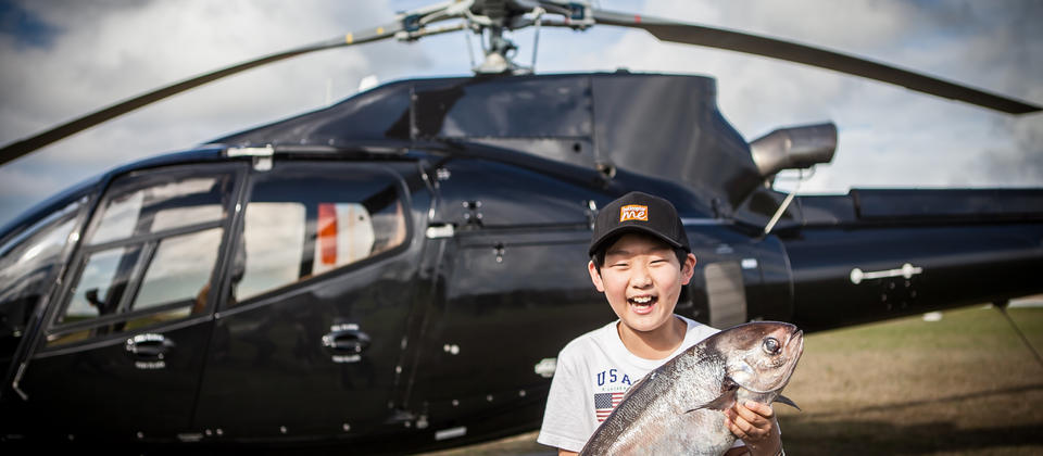 Nice fish! Try Heli-fishing with Helicopter Me