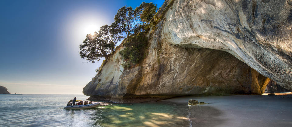 Kayaking off the beaten track at Cathedral Cove