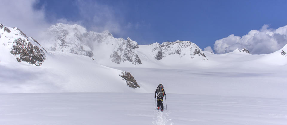 Ski traverse of the Fox and Franz Joseph Glacier