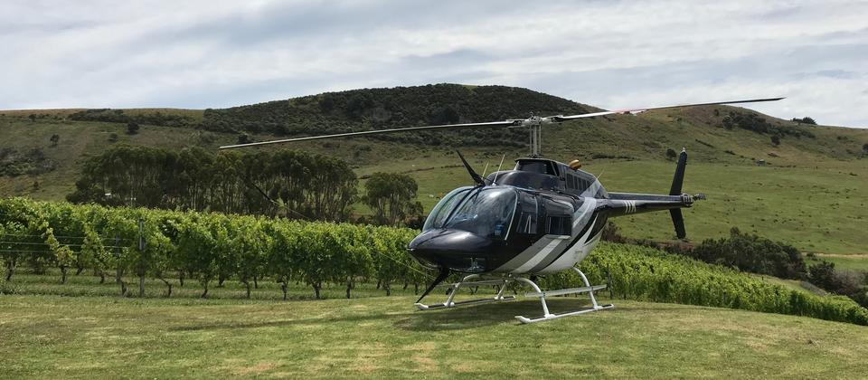 Arriving in style to Stony Ridge vineyard